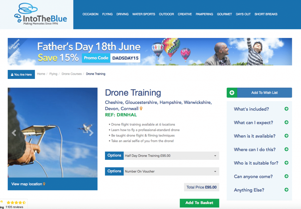 drone School, Experience Days