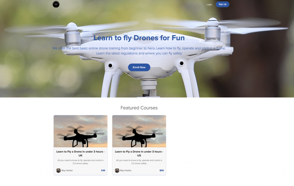 Online Drone Training